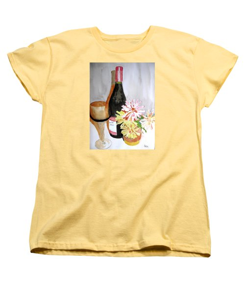 Women's T-Shirt (Standard Cut) featuring the painting Pinot Noir by Sandy McIntire