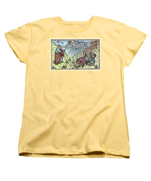 Women's T-Shirt (Standard Cut) featuring the painting Plague Of Hail by Granger