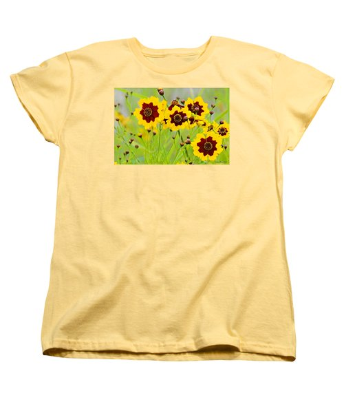 Plains Coreopsis Women's T-Shirt (Standard Cut) by Walter Herrit