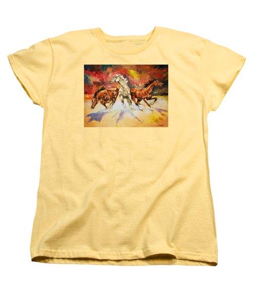 Plains Thunder Women's T-Shirt (Standard Cut) by Al Brown