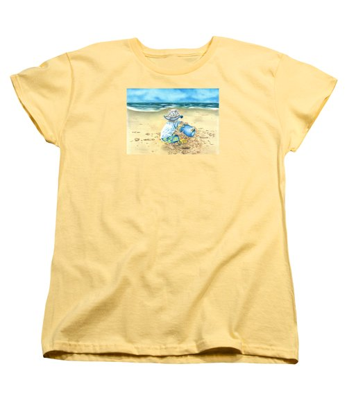 Playing On The Beach Women's T-Shirt (Standard Cut) by Troy Levesque