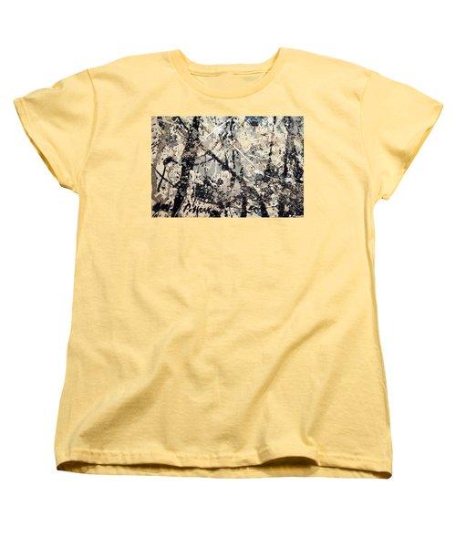 Pollock's Name On Lavendar Mist Women's T-Shirt (Standard Cut)