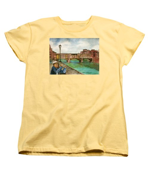 Ponte Vecchio Florence Italy Women's T-Shirt (Standard Cut) by Frank Hunter