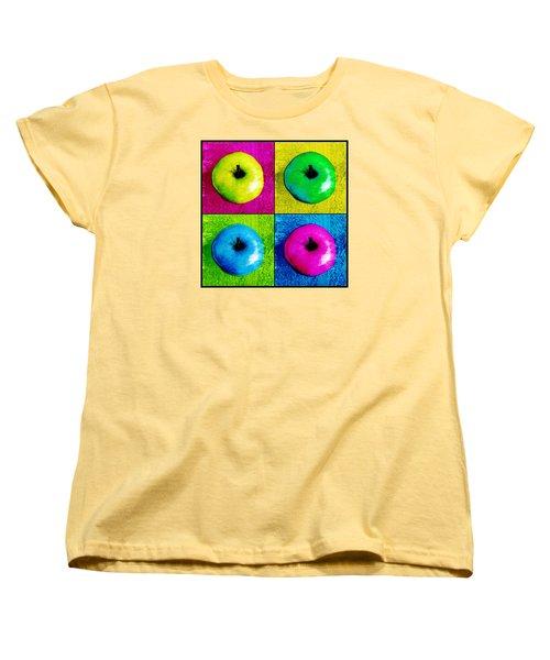 Pop Art Apples Women's T-Shirt (Standard Cut) by Shawna Rowe