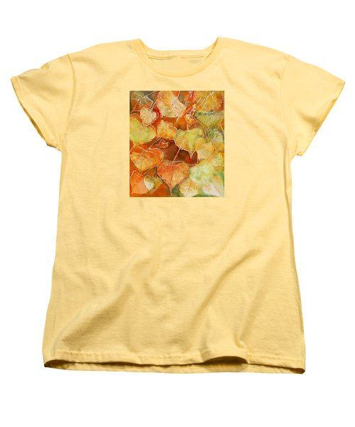 Poplar Leaves Women's T-Shirt (Standard Cut) by Susan Crossman Buscho