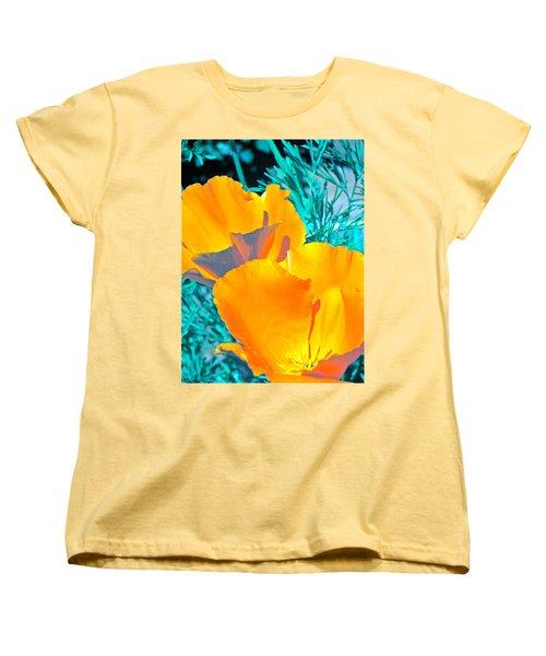 Poppy 4 Women's T-Shirt (Standard Cut) by Pamela Cooper