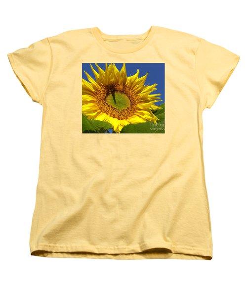 Portrait Of A Sunflower Women's T-Shirt (Standard Cut) by Diane Miller