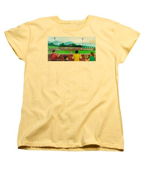 Portsmouth Athletics Vs Muncie Reds 1948 Women's T-Shirt (Standard Cut) by Frank Hunter