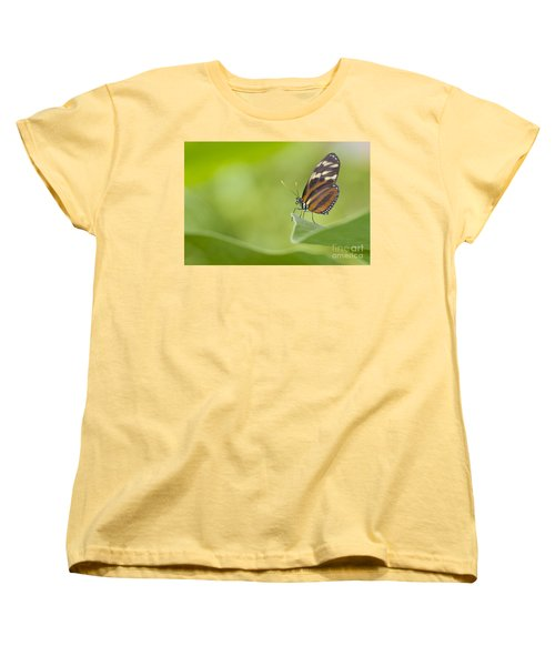 Women's T-Shirt (Standard Cut) featuring the photograph Postman On A Leaf by Bryan Keil