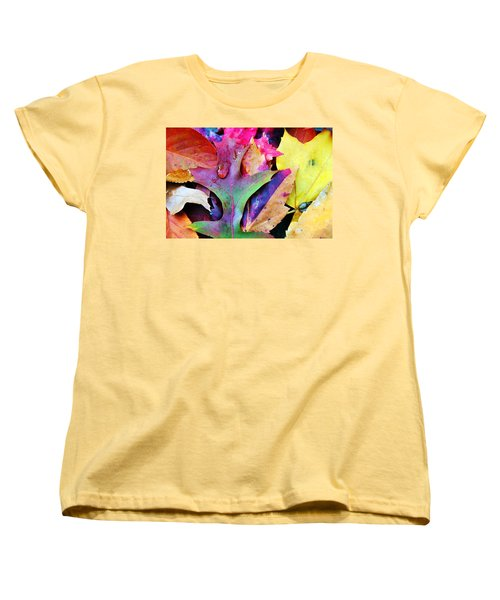 Women's T-Shirt (Standard Cut) featuring the photograph Primary Colors Of Fall by Judy Palkimas