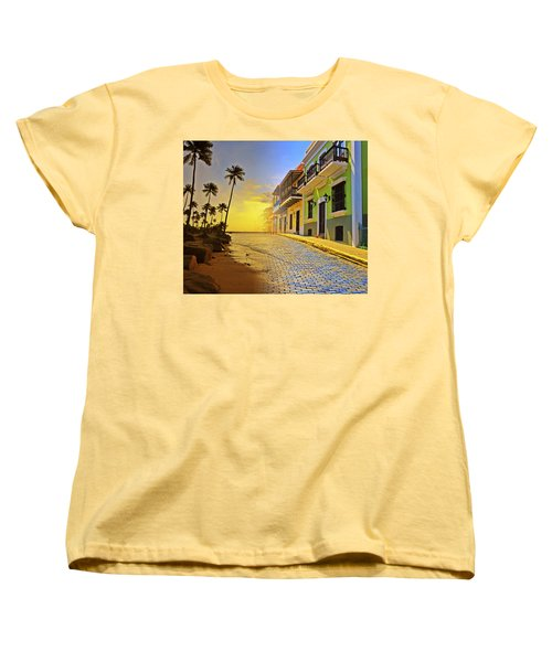 Puerto Rico Collage 2 Women's T-Shirt (Standard Cut) by Stephen Anderson
