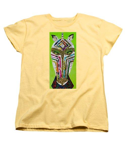 Women's T-Shirt (Standard Cut) featuring the tapestry - textile Punda Milia by Apanaki Temitayo M