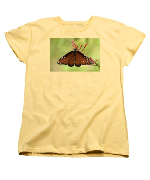 Women's T-Shirt (Standard Cut) featuring the photograph Queen Butterfly by Meg Rousher