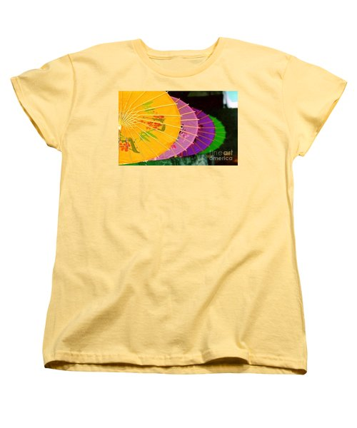 Women's T-Shirt (Standard Cut) featuring the photograph New Orleans Rainbowellas by Michael Hoard