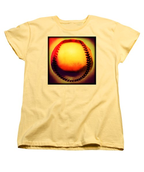 Red Hot Baseball Women's T-Shirt (Standard Cut)
