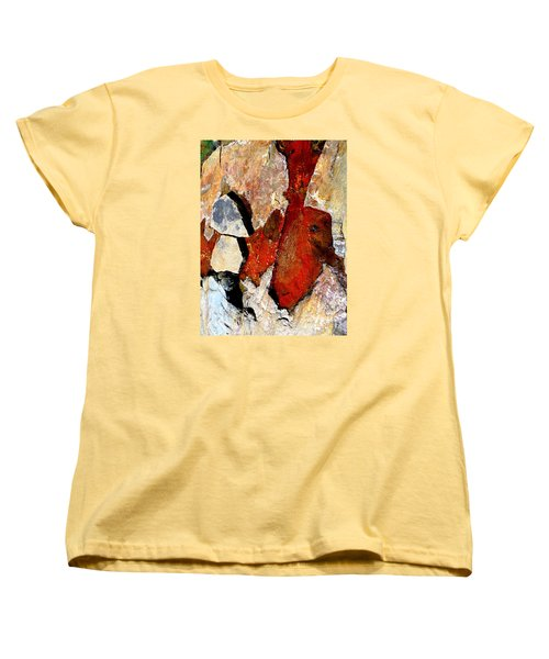 Red Veins Women's T-Shirt (Standard Cut) by Marcia Lee Jones