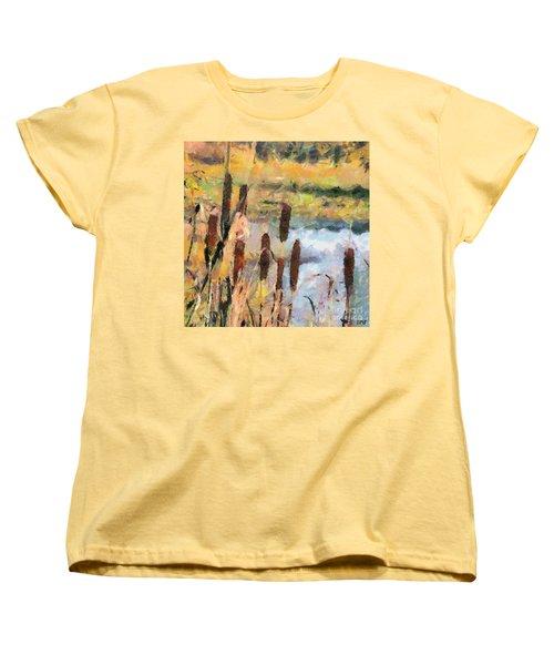 Reedmace Women's T-Shirt (Standard Cut) by Dragica  Micki Fortuna