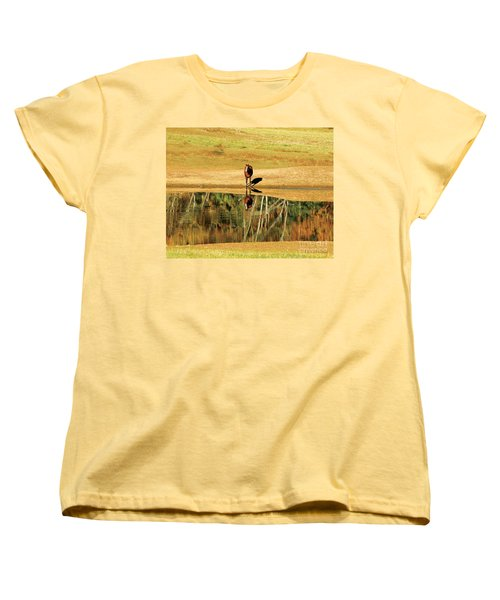 Women's T-Shirt (Standard Cut) featuring the photograph Reflection by Carol Lynn Coronios