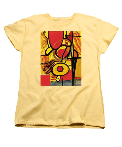 Women's T-Shirt (Standard Cut) featuring the painting Relativity 2 by Stephen Lucas