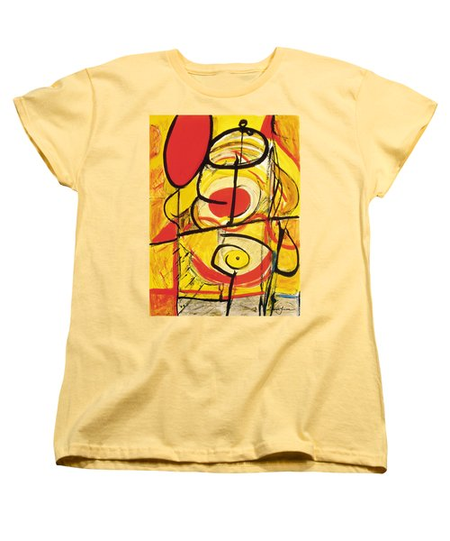 Women's T-Shirt (Standard Cut) featuring the painting Relativity 3 by Stephen Lucas