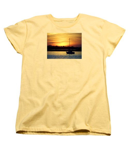 Women's T-Shirt (Standard Cut) featuring the photograph Resting In A Mango Sunset by Sandi OReilly