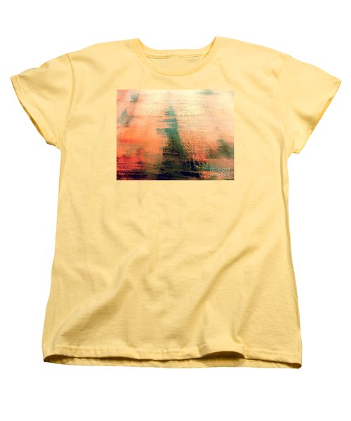 Women's T-Shirt (Standard Cut) featuring the painting Rise by Jacqueline McReynolds