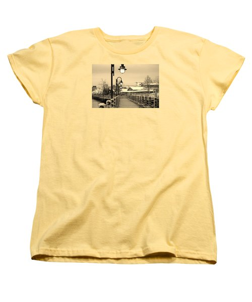 Riverfront Women's T-Shirt (Standard Cut) by Cynthia Guinn