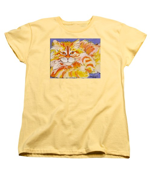 Women's T-Shirt (Standard Cut) featuring the painting Rocket by Alison Caltrider