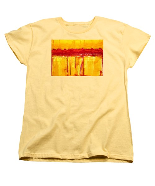 Rocky Mountains Original Painting Women's T-Shirt (Standard Cut) by Sol Luckman