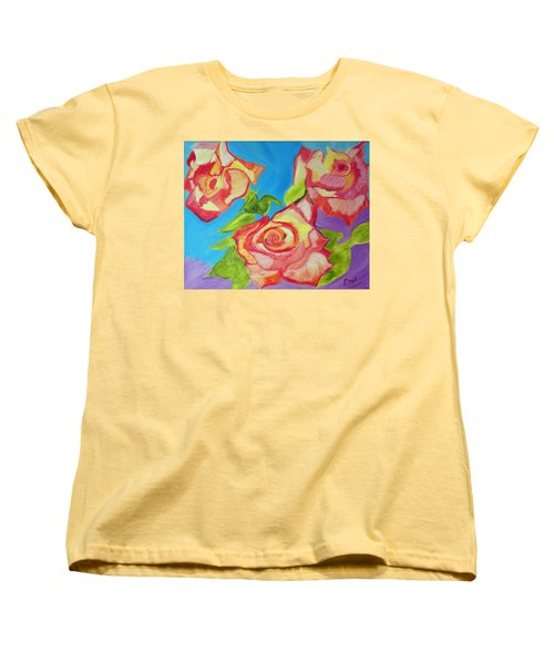 Women's T-Shirt (Standard Cut) featuring the painting Rosey by Meryl Goudey