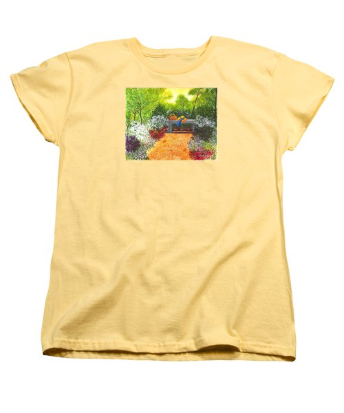 Women's T-Shirt (Standard Cut) featuring the painting Sanctuary by Patricia Griffin Brett