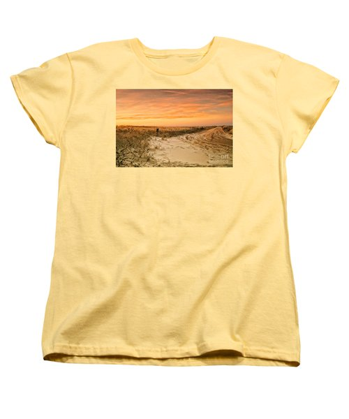 Sandy Road Leading To The Beach Women's T-Shirt (Standard Cut) by Sabine Jacobs