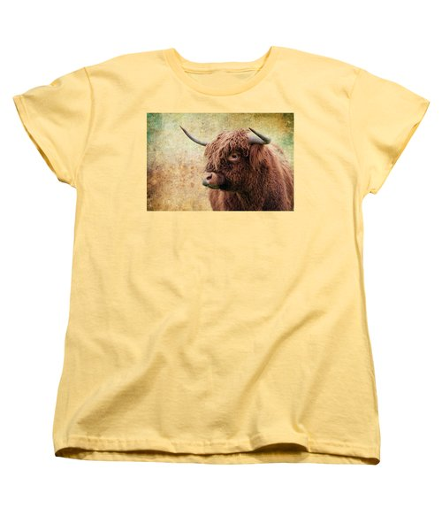 Scottish Highland Steer Women's T-Shirt (Standard Cut) by Steve McKinzie