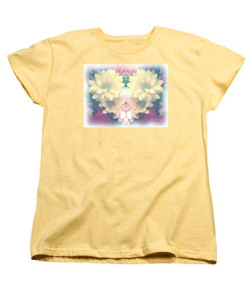 Women's T-Shirt (Standard Cut) featuring the photograph Serene Zinnias by Luther Fine Art