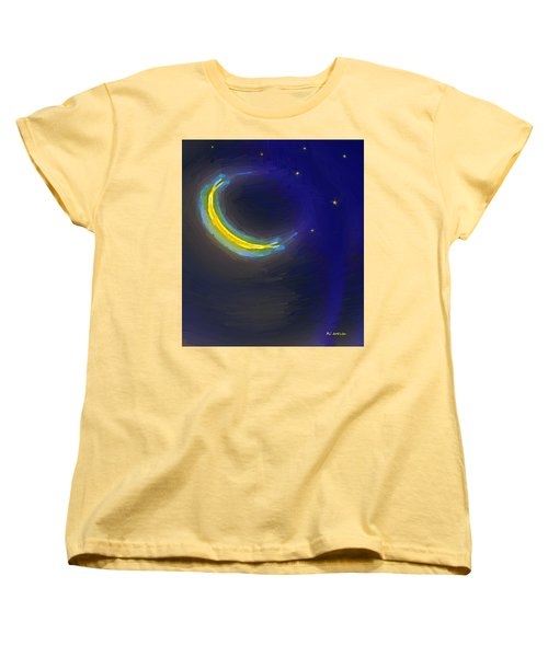 Seven Stars And The Moon Women's T-Shirt (Standard Cut) by RC deWinter