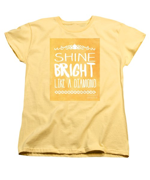Shine Bright Orange Women's T-Shirt (Standard Cut) by Pati Photography