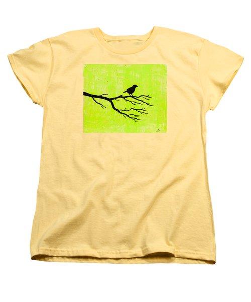 Silhouette Green Women's T-Shirt (Standard Cut) by Stefanie Forck