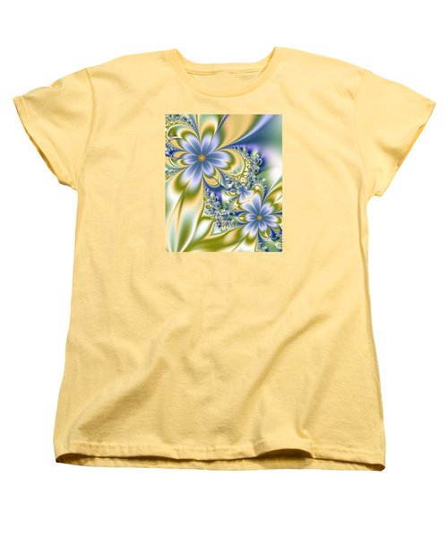 Silky Flowers Women's T-Shirt (Standard Cut) by Svetlana Nikolova