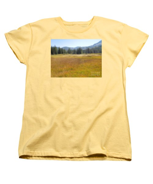 Silver Lake Area Big Cottonwood Canyon Utah Women's T-Shirt (Standard Cut) by Richard W Linford