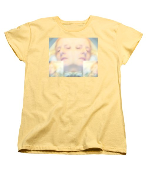 Sleeping Woman Drifting In Dreams Women's T-Shirt (Standard Cut) by Marian Cates