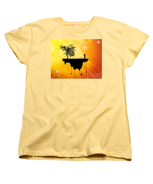 Women's T-Shirt (Standard Cut) featuring the digital art Slice Of Earth by Phil Perkins