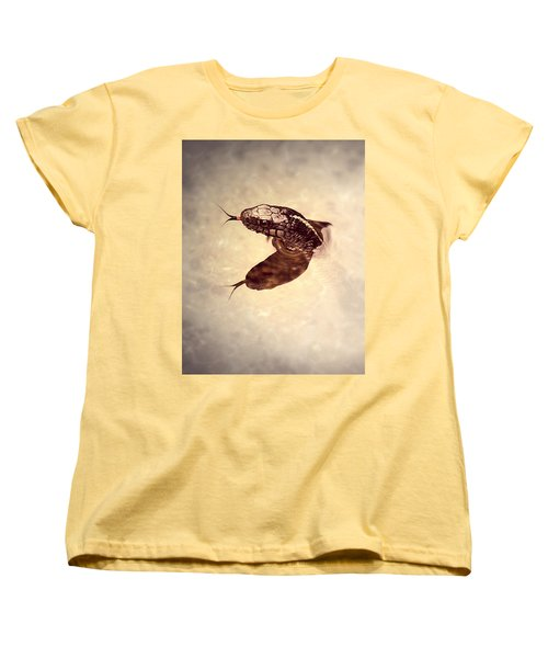 Women's T-Shirt (Standard Cut) featuring the photograph Slithering Reflections by Melanie Lankford Photography