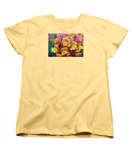 Women's T-Shirt (Standard Cut) featuring the photograph Snapdragons by Cassandra Buckley