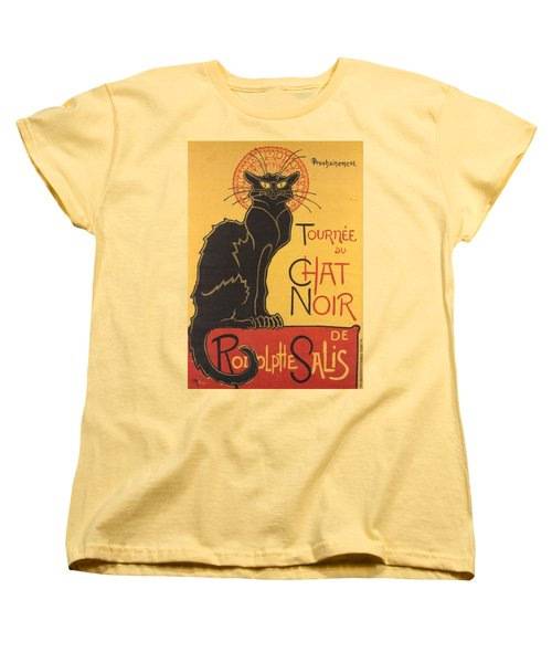 Soon The Black Cat Tour By Rodolphe Salis  Women's T-Shirt (Standard Cut)