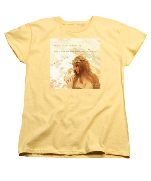 Sounds Of The Sea Women's T-Shirt (Standard Cut) by Linda Lees