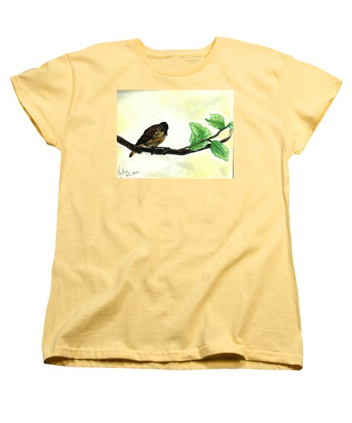 Sparrow On A Branch Women's T-Shirt (Standard Cut)