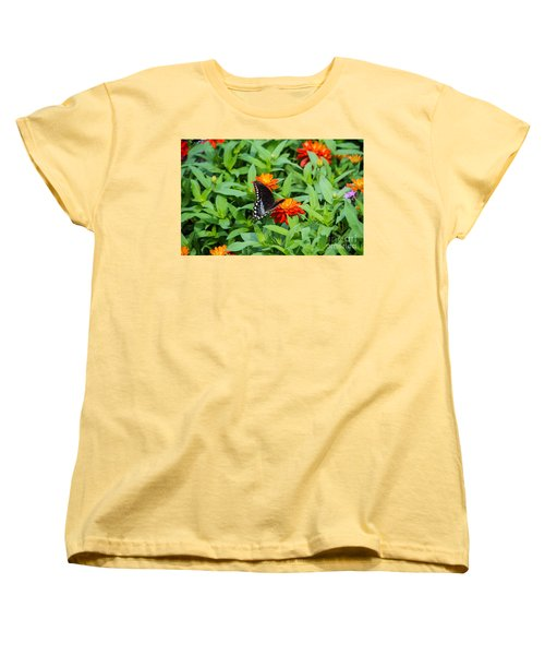 Spicebush Swallowtail Women's T-Shirt (Standard Cut) by Angela DeFrias