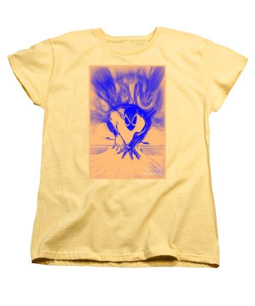 Spider-man T B Blast Women's T-Shirt (Standard Cut) by Justin Moore