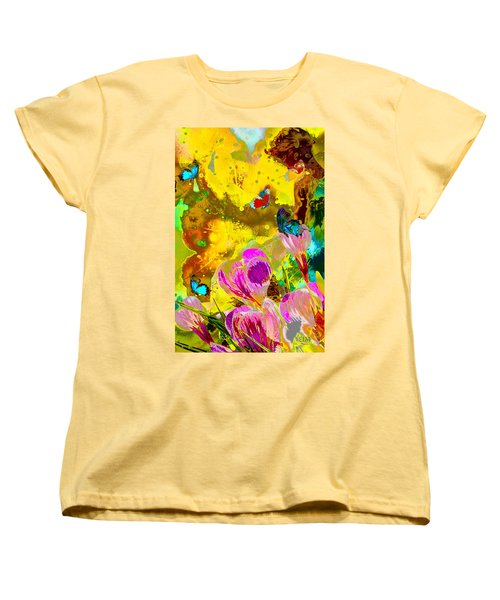 Springtime Splash Women's T-Shirt (Standard Cut) by Mayhem Mediums