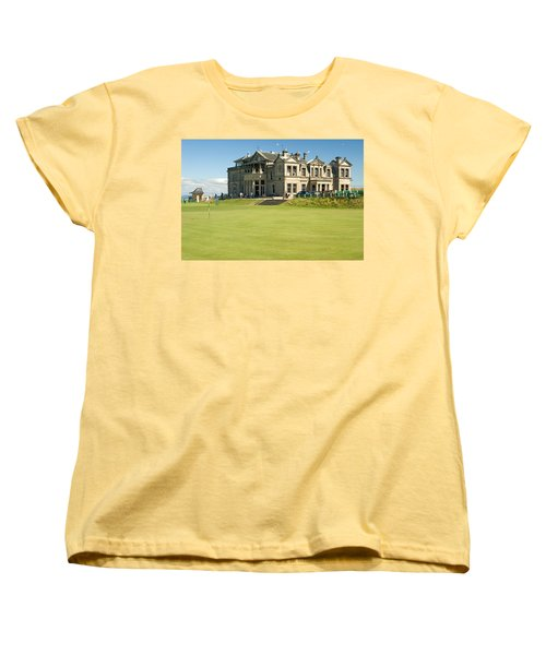 St Andrews Final Green And Clubhouse  Women's T-Shirt (Standard Cut) by Jeremy Voisey
